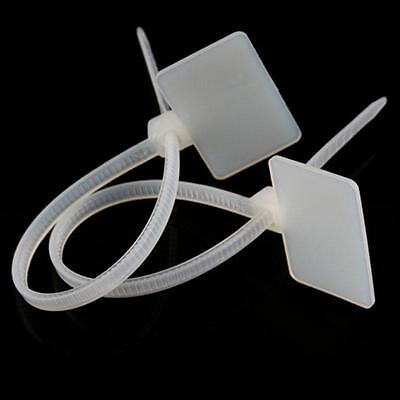 50/100X Cable Marker Tag Self-Locking Label Zip Tie Network Cord Wire SY