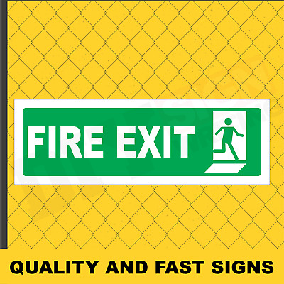 Fire Exit Prints Full Colour Sign Printed Heavy Duty 3958