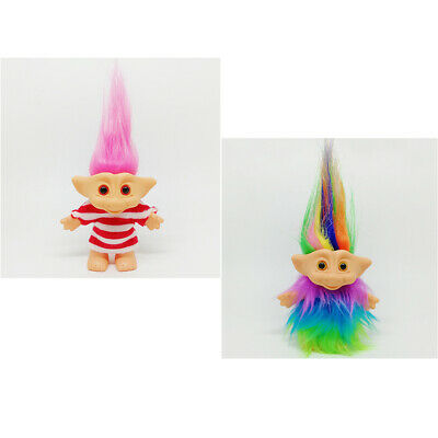 Chromatic Lucky Troll Doll Mini Action Figures Toy Cake Toppers Plush & Rosy