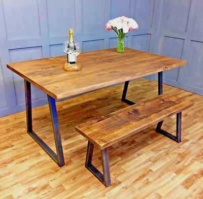 Industrial Dining Table Rustic Vintage Farmhouse Reclaimed Dining Table