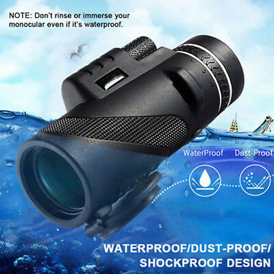 40X60 HD Monocular Day&Night Vision Dual Focus Telescope+Tripod+Holder For Phone