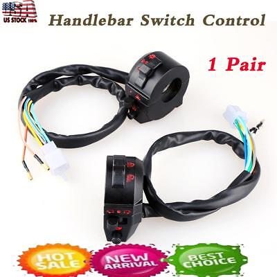 2 pcs  7/8'' Motorcycle Handlebar Horn Turn Signal High/Low Beam Control Switch