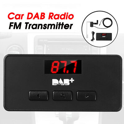 12V/24V DAB+LCD Digital Radio Receiver FM USB Transmitter Antenna Car Motorcycle