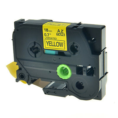 TZe-641 TZ-641 TZ641 TZe641 Black On Yellow Label Tape For Brother P-Touch 18mm