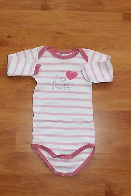 PETIT BATEAU  BODY manches longues blanc rayures roses fille 6 mois ... df8df5680f8
