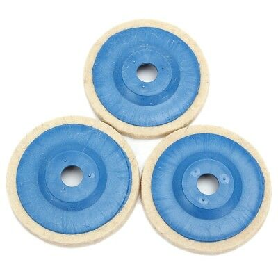 3pcs 100mm 4Inch Grinding Pad wool Polishing Disc Abrasive Wheel Felt Buffer  I5