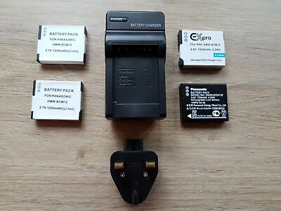 DMW-BCM13E Rechargeable Batteries/Charger for a Panasonic Lumix DMC-TZ60