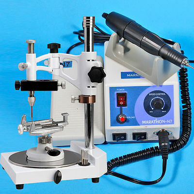 Dental Lab MARATHON Polishing Micromotor N7+35K RPM Handpiece+ Parallel Surveyor