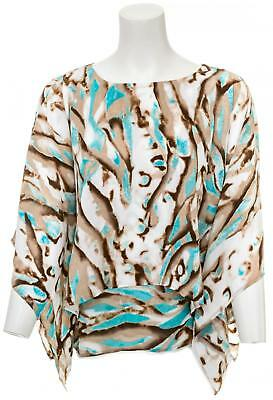 CHICO'S Travelers Collection Watercolor Layered Top