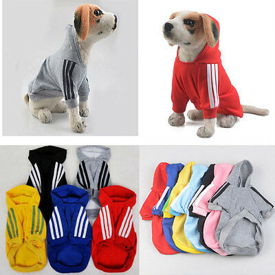 Casual Adidog Clothes Pets Dog Winter Warm Hoodie Coat Jacket Clothing For Dogs