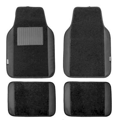 Carpet Floor Black Universal Fit for Cars Small suvs Mats with Faux Leather