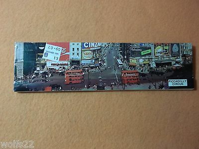 """Vintage Matchbook ~ Panoramic view of London ~ 7 3/4"""" wide Circus NEW UNUSED"""