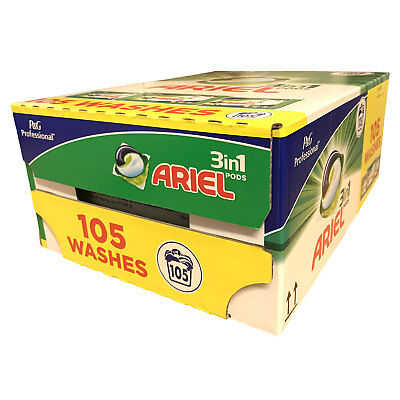 Ariel 3 In 1 Pods 105 Washes Laundry Detergent Washing Capsules Cleans Stains