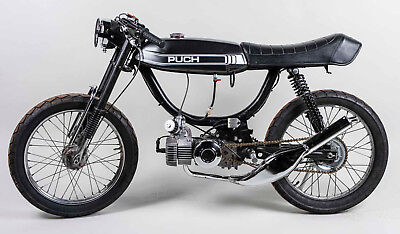 Puch Cafe Racer Moped | 1stmotorxstyle org