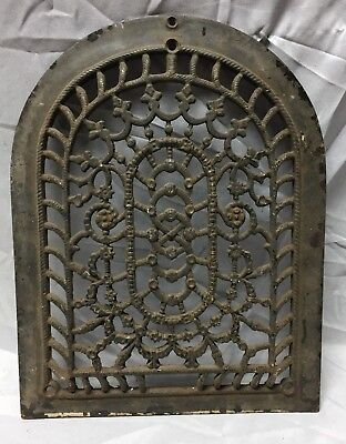 One Antique Arched Top Heat Grate Grill Floral Decorative Arch 11X14 653-18C