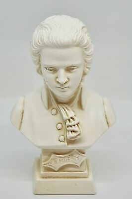 Statue: Busto di W.A. Mozart - Bust of W.A. Mozart (Made in Italy) 11 cm