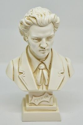 Statue: Busto di F. Chopin - Bust of F. Chopin (Made in Italy) 11 cm