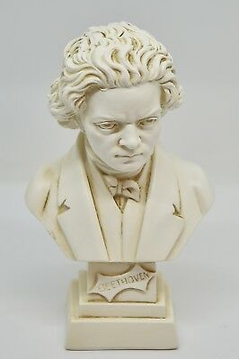 Statue: Busto di L.V. Beethoven - Bust of L.V. Beethoven (Made in Italy) 11 cm