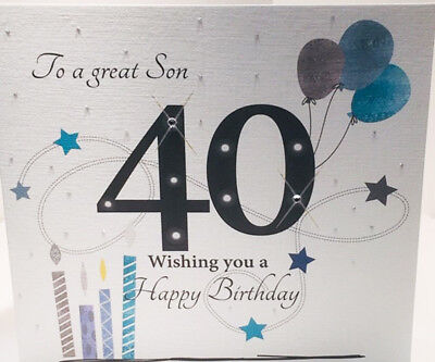 Large 40th Birthday Card For A Great Son