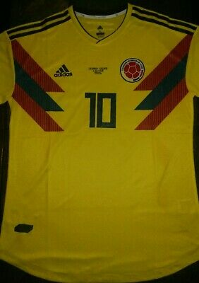 meet 585c7 93544 ADIDAS JAMES RODRIGUEZ Colombia Home Jersey World Cup 2018 ...