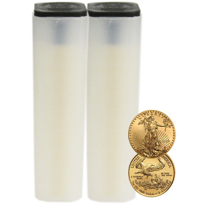 Lot of 100 - 2019 $5 American Gold Eagle 1/10 oz Brilliant Uncirculated 2 Full R