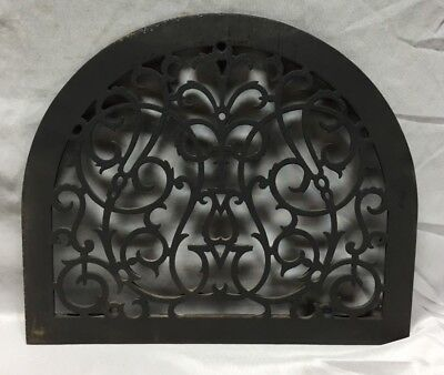 One Antique Arched Top Heat Grate Grill Decorative Arch 13X15 659-18C