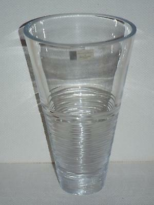 "Waterford Lead Crystal Jasper Conran STRATA  Large 11"" ANGLED / FLARED VASE New"