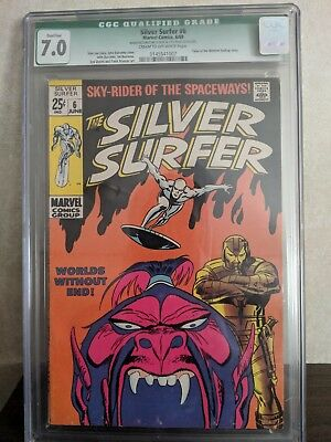 SILVER SURFER #6 (7.0 Graded) WORLDS WITHOUT END! 1969