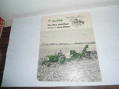 Oliver Model 3 Two-Row Corn Picker Implement Brochure