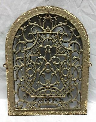 One Antique Arched Top Heat Grate Grill Floral Decorative Arch 12X16 660-18C