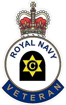 Royal Navy Cook Veteran Sticker Uk - Cars - Vans - Laptops