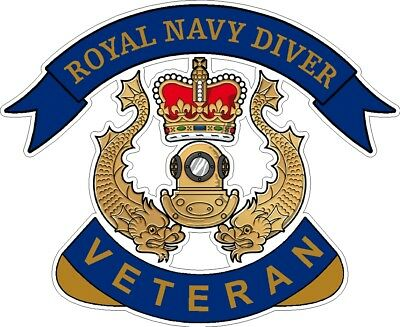 Royal Navy Diver Veteran Sticker Uk - Cars - Vans - Laptops