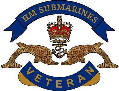 Royal Navy Submarines Veteran Sticker Uk - Cars - Vans - Laptops
