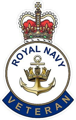 Royal Navy Veteran Sticker Uk - Cars - Vans - Laptops