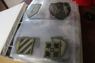 Collection lot of US Army Subdued Patches SSI Vietnam or post 164 pieces!!