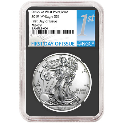 2019 (W) $1 American Silver Eagle NGC MS69 FDI First Label Retro Core