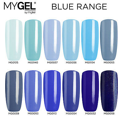 Mylee MYGEL Blue Collection UV LED Soak-Off Gel Nail Polish Colour Manicure 10ml