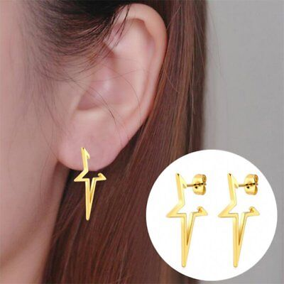 Stainless Steel Clip Ear Cuff Stud Women's Punk Wrap Cartilage Earrings Jewelry