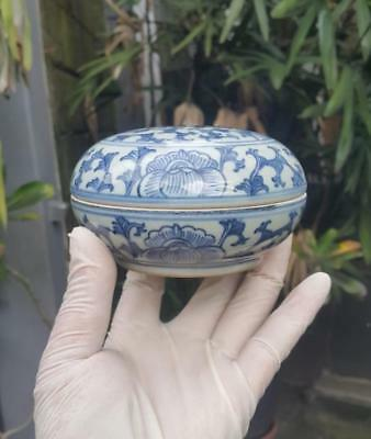 Small Antique underglaze Blue and White Chinese Porcelain Covered