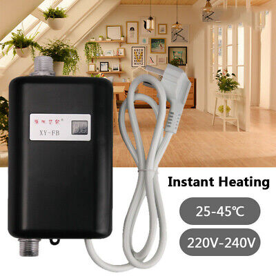 Mini Tankless Electric Instant Hot Water Heater Bathroom Kitchen Under Sink 220V