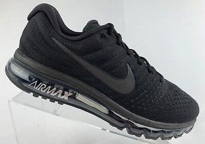 Nike Air Max 2017 Running Shoes Triple Black 849559-004 Men's Size 15