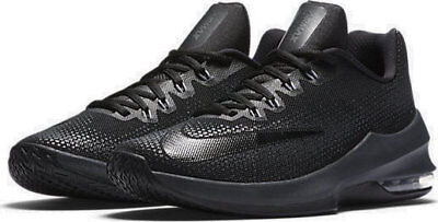 Men's Nike Air Max Infuriate Low Basketball Shoes, Size 8, Black, 852457