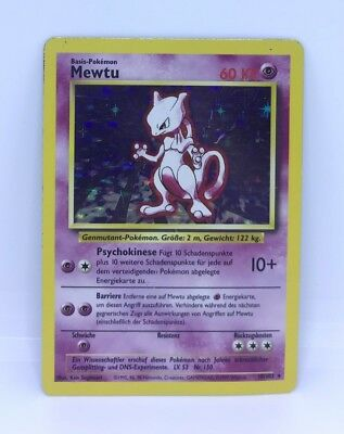 Pokémon Karte Mewtu - Mewtwo | Holo | Base - Basis Set | Deutsch