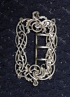 Art Nouveau Silver Belt Buckle Made By William Comyns 1896
