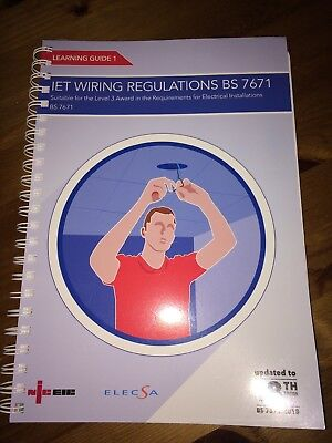 New Book.Learning Guide 1 IET Wiring Regulations BS7671. Updated To 18th Edition