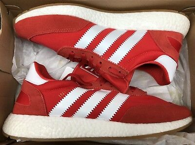 BY9728  MEN S ADIDAS Originals Iniki Runner Shoe Red white gum  new ... c3033f079