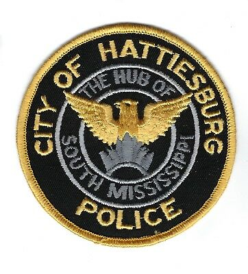 Hattiesburg (Forrest Co.) MS Mississippi Police Dept. patch - NEW! *Hub of S MS*