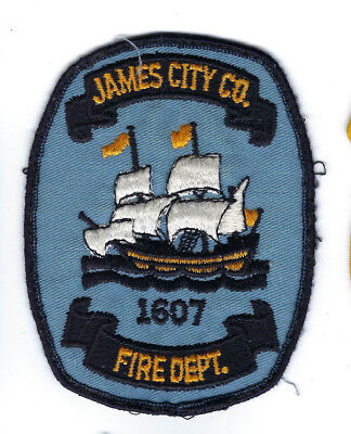 James City County VA Virginia Fire Dept. *light blue* patch - Nice! *Cheesecloth