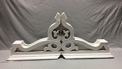 Pair  Large Antique White Roof bracket Corbels Shabby Vtg Chic  Old  4-19M