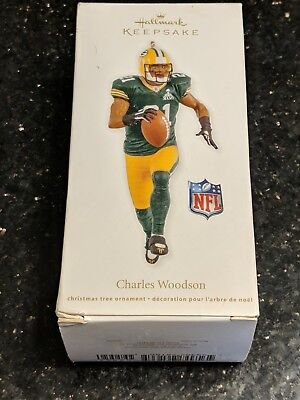 Hallmark Keepsake Ornament Charles Woodson Green Bay Dated 2012 New in Box